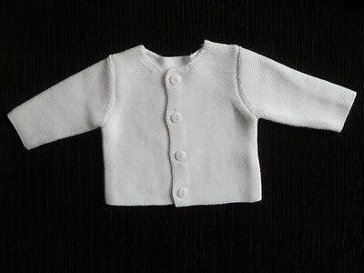 Baby clothes UNISEX BOY GIRL premature/tiny<5lbs/2.3kg cardigan M'care cotton
