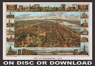 PRINT/SELL HIGH RES. 3D PANORAMIC MAPS - RESTORED ART IMAGES (by Timecamera)
