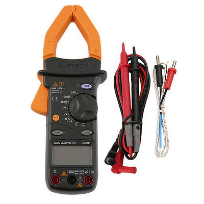 MASTECH MS2101 AC/DC Digital Clamp Meter 4000 Counts with Storage Bag FA