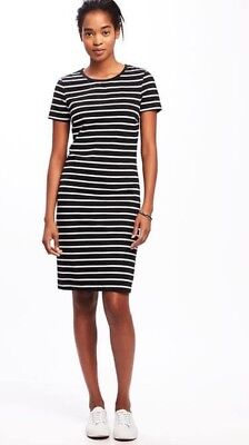 7c41084fe9e OLD NAVY WOMEN S Pink Striped Crew-Neck Tee Dress Size M -  7.99 ...