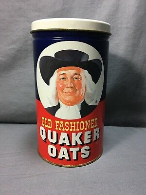 1982 Old Fashioned Quaker Oats Oatmeal Limited Edition Tin Can Canister VTG