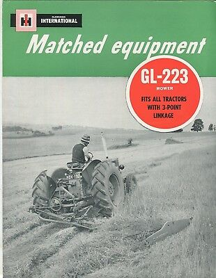 International Matched Equipment GL-223 Mower fits all tractors with 3 point link