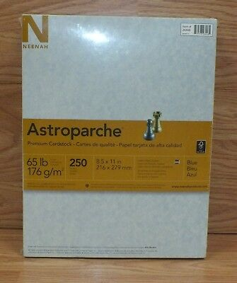 "Neenah Astroparche 8.5"" x 11"" (250 Sheets) Blue Premium Cardstock **NEW-SEALED**"