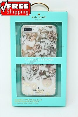 Kate Spade New York Hardshell Case Blossm Pink Gold for iPhone 8 Plus 7 Plus NEW