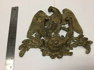 Large Antique Vintage Heavy Brass Eagle Door Knocker