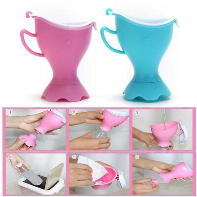 Portable Urinal Funnel Camping Hiking Travel Urine Urination Device-Toilet LS