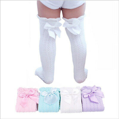 Long Stockings Bow Kids Girls Baby Tube Socks Leg Warmers Knee High Socks