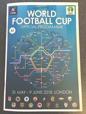 2018 Paddy Power London CONIFA World Football Cup Tournament Official Programme
