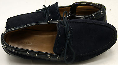 79b06ba4c82 ZARA MAN BLUE Suede Tassel Men s Loafers Sz 43 9-9.5 M Shoes ...