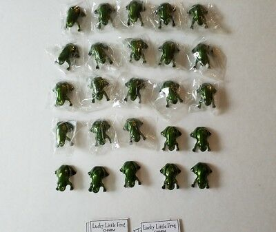 Lot of 25 Lucky Little Frog Pocket Token Charms w/cards