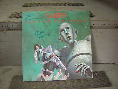 Queen Signed Lp News Of The World Freddie Mercury May Deacon Taylor 1977