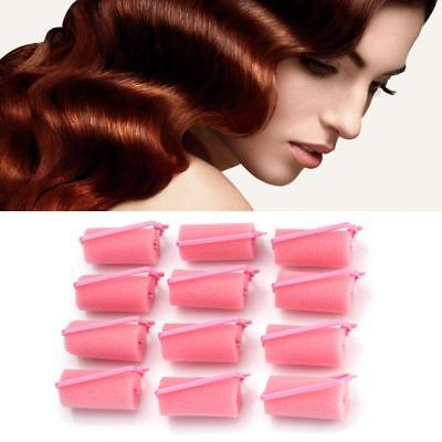 12 Pcs SPONGER MAGIC Foam Cushion Hair Styling Rollers Curlers Twist Tools Witty