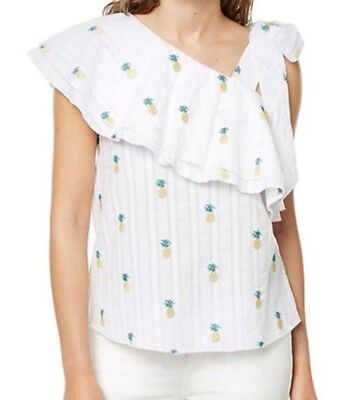 4571dbec7af3bf LILLY PULITZER ACHELLE TOP Colony Coral Shell Out/Multi Pina Colada ...