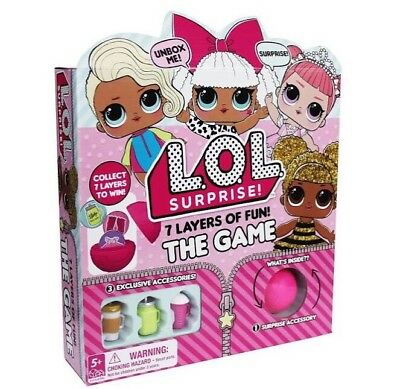 LOL Surprise! 7 layers of fun! The Board Game Exclusive Surprise Accessories