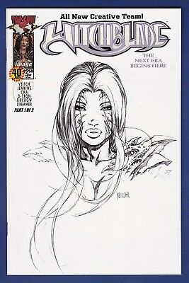Witchblade #40  Dynamic Forces Sketch Variant cover W/COA  2001  Image