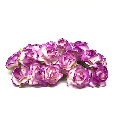Bulk Buy Shades Of Purple Classic Mulberry Paper Roses Flowers