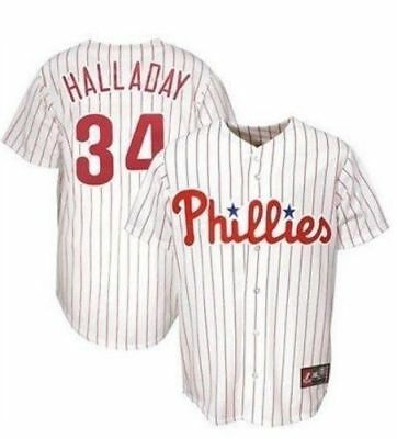 philadelphia phillies mlb youth majestic roy halladay white jersey xl preowned