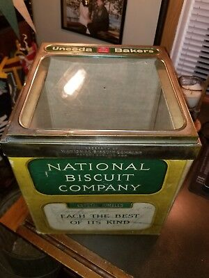 Antique National Biscuit-Bread Advertising Dispenser Country Store Display Box