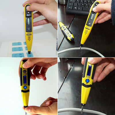 AC DC Non-Contact Electric Test Pen Voltage Digital Detector Tester 12-220V LCD
