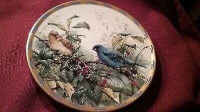 Lenox 1994 indigo evening from the nature's collage plate collection