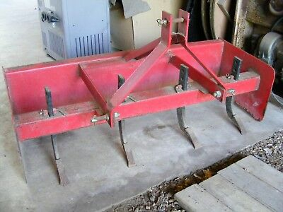 5 Foot Box Blade With 4 Ripper Teeth And 3Pt (Cat1) Hitch