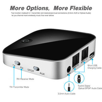 Bluetooth4.1 Digital Optical Transmitter Receiver 2 In 1 Wireless Adapter PC TV