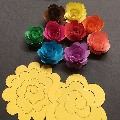 20pcs 10 Color Rose Quilling Paper Mixed Color Origami Paper Craft Decor DIY HOT