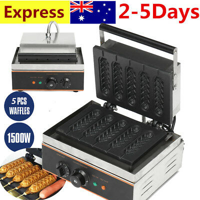 Electric Muffin Hot Dog Lolly Waffle Maker Sausage Baking Machine Commercial