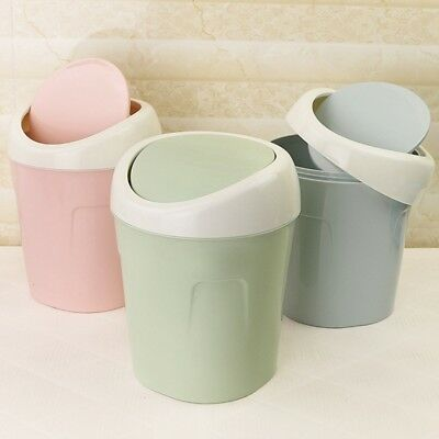 Decor Mini Small Waste Bin Desktop Garbage Basket Table Home Office Trash Can US