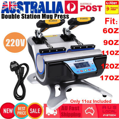 DOUBLE TWIN 2 IN 1 Mug Heat Press ST-210 Sublimation Transfer Printing AU