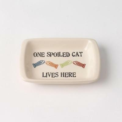 Cat Saucer Dish - One Spoiled Cat - Rectangular Saucer
