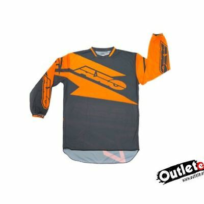 Camiseta Axo Motion 2 Naranja Gris Enduro Cross Atv