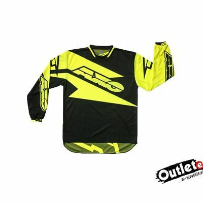 Camiseta Axo Motion 2 Amarillo Negro Enduro Cross Atv