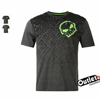 Camiseta Moto Fashion No Fear Moto Graphic Skull Black Aop