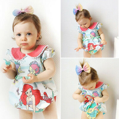 Newborn Infant Baby Girl Summer Clothes Bodysuit Romper Jumpsuit Outfits