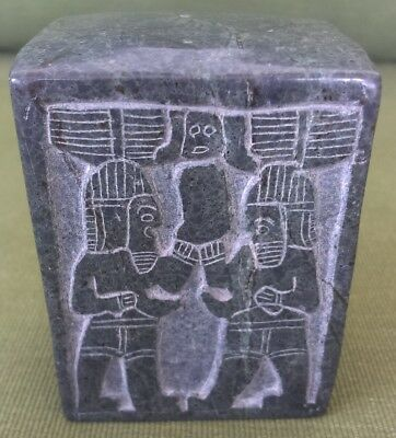 ancient item from Turkey, made heavy granite weight 441 gram,75x60x40 mm