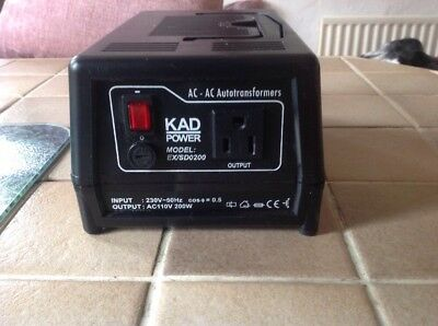 Kad  Power Box Autotransformer Fully Tested and Working