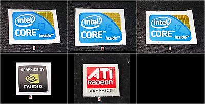 Laptop Notebook stickers - Intel inside Core i3 i5 i7 , Nvidia , ATI Radeon