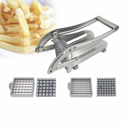 Kitchen Cooking Tool Stainless Steel French Fry Potato Chipper Cutter Slicer GG