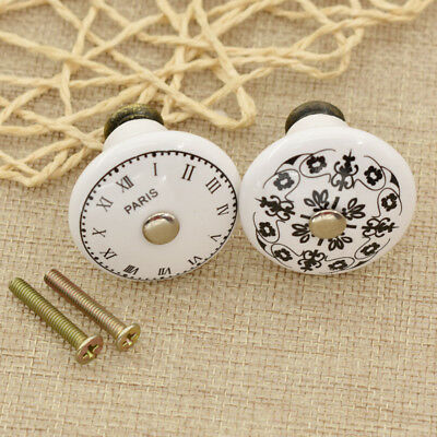 Fashion Ceramic Door Knob Pull Handle Cupboard Cabinet Drawer Home Furniture