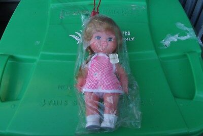1970's Mint Condition Plastic Doll, In Sealed Bag
