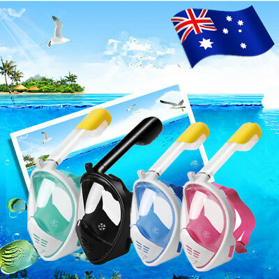LEUCOTHEA 180°New Full Face Snorkel Scuba Diving Mask Snorkelling Set For GoPro