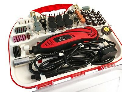 210pcs Hobby Craft Mini Drill Grinder Multi tool Rotary Tool Set Modeling 135W