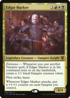 1x FOIL EDGAR MARKOV - Rare - Commander - MTG - NM - Magic the Gathering