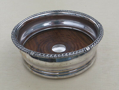 Old Sheffield Plate (Silver Plated) Wine Bottle Coaster