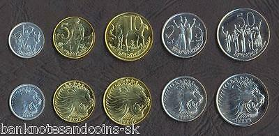 ETHIOPIA COMPLETE COIN SET 1+5+10+25+50 Cents 1977-2008 UNC UNCIRCULATED LOT 5