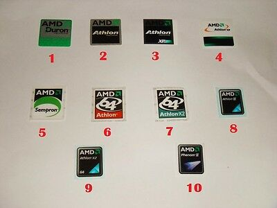 AMD case stickers - Duron, Athlon, Athlon XP, Sempron, Athlon X2, Phenom II