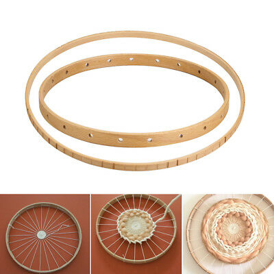 Round Wooden Knitting Loom Craft DIY Weaving Tools for DIY