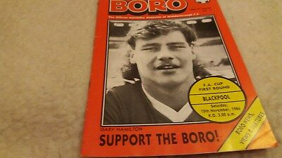 Middlesbrough v Blackpool 1986/87 FA Cup