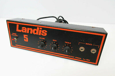 Vintage Landis 5 Point To Point Hand Wired Guitar Amp - Head Chassis Alone